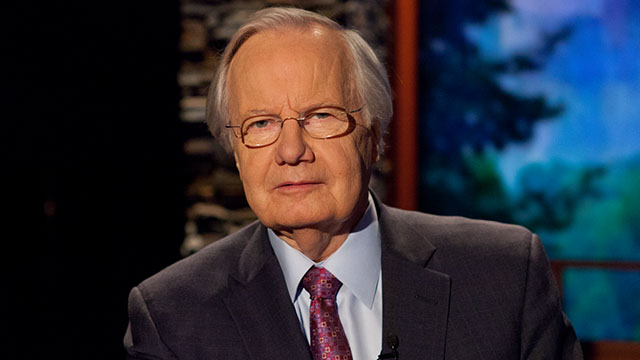 Bill Moyers on the set of Moyers & Company in 2013.