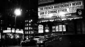 """Manhattan Storage ad that says: '""""The French aristocracy never saw it coming either."""