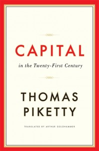 'Capital in the Twenty-First Century' by Thomas Piketty book jacket