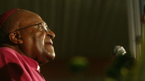 Archbishop Emeritus Desmond Tutu during a special tribute to honour Nelson Mandela at the Mandela Centre of Memory. South Africa - 09 Dec 2013 (Rex Features via AP Images)