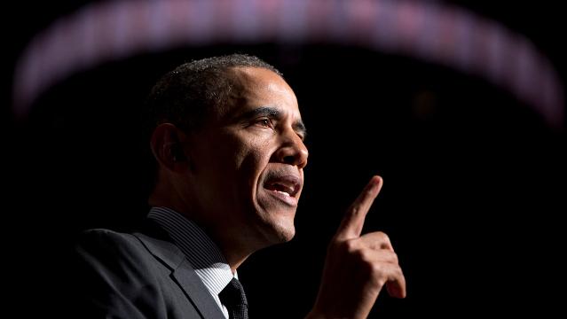 President Barack Obama speaks at Al Sharpton's National Action Network conference in New York, Friday, April 11, 2014. (AP Photo/Carolyn Kaster)