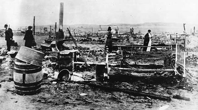 Ruins of the Ludlow camp in Colorado, 1914. (Image: Library of Congress, Washington, DC)
