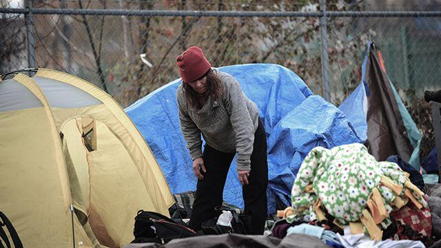 Homeless camp, Oregon