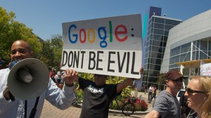 Net Neutrality protest at Google HQ