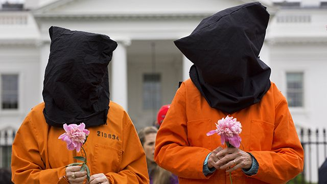 Guantanamo Protest at the White House
