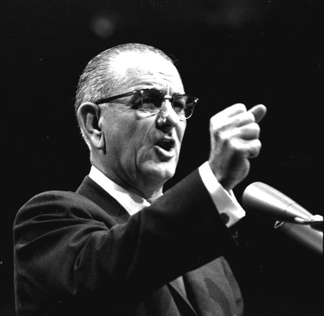 Lyndon Johnson, October 15, 1964. (AP Photo)