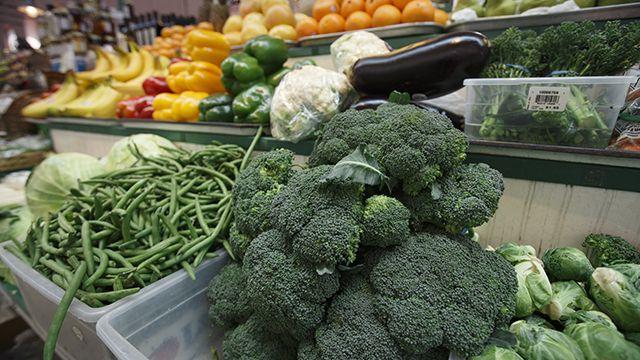 Healthy Food, vegetables on display