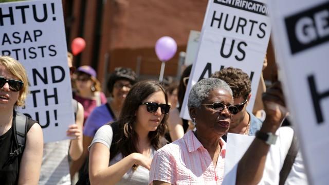 Tenant rally in Crown Heights, Brooklyn