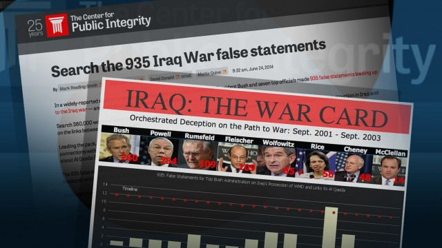 Iraq War Card, Searchable database of false statements