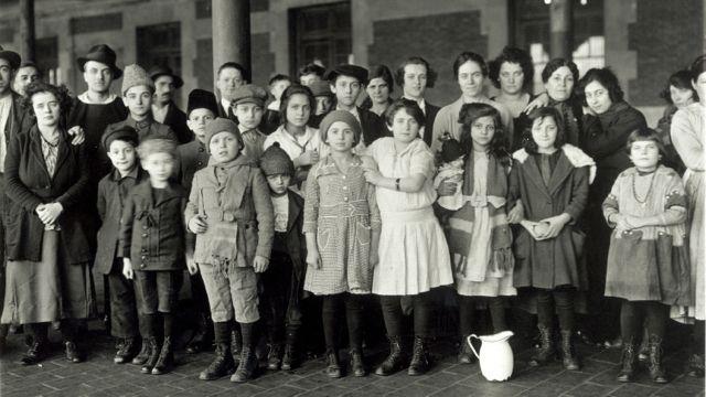 Immigrant Children, Ellis Island, New York, ca. 1908 (National Archives)