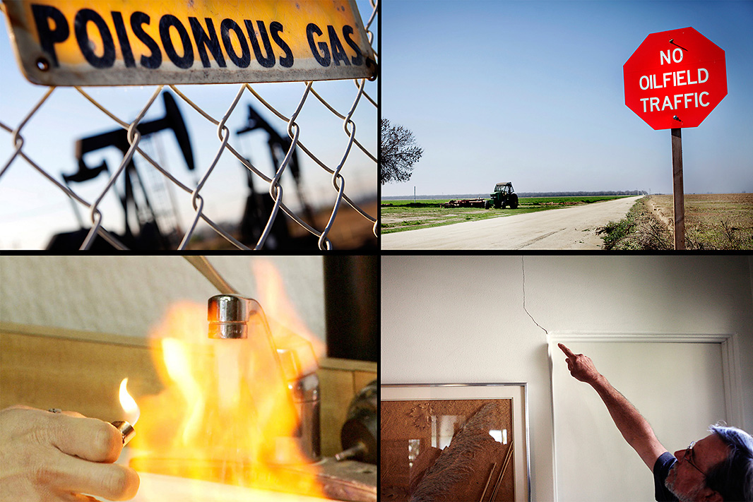 Air pollution, traffic problems, water contamination and earthquakes have occurred in communities near fracking sites. (Photo: Chris Jordan-Bloch/Earthjustice)