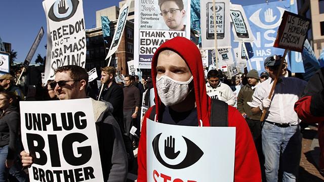 NSA Surveillance demonstration in Washington, DC