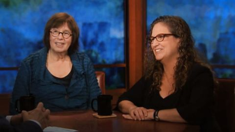 Linda Greenhouse and Dahlia Lithwick in studio with Bill