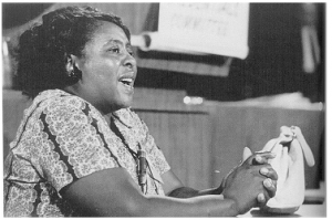 Fannie Lou Hamer testifying at the Democratic Party convention in Atlantic City in 1964. (Image: Library of Congress)