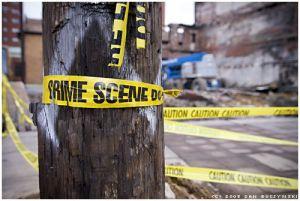 Police tape marks a crime scene. (Image: Flickr/ Fanboy30)