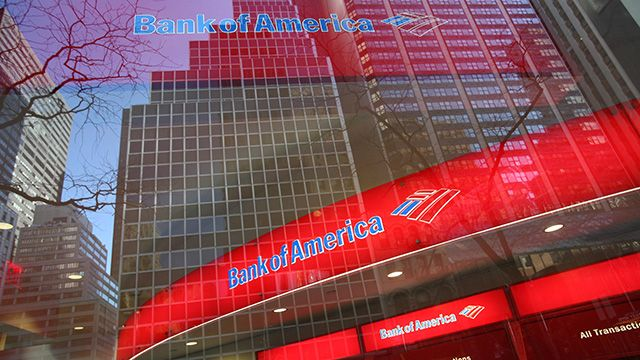 FILE - In this Jan. 25, 2009 file photo, a Bank of America branch office is shown in New York. The Bank of America said Tuesday, June 29, 2011 it will pay $8.5 billion to settle with investors over housing crash claims. (AP Photo/Mark Lennihan, file)