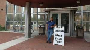 A library in Montclair, New Jersey, is closed due to budget cuts. (Image: Flickr/ Emily Mills)