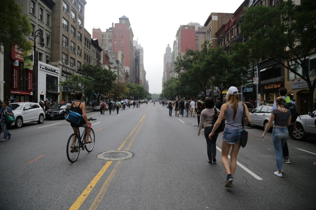 Many of New York's usually busy thoroughfares were closed to car traffic for the march. (Photo: John Light)