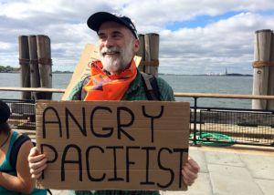 Richard Lynch at the Flood Wall Street protest. (Photo: Joshua Holland)