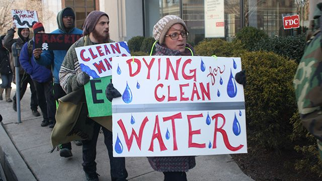 An anti-fracking demonstrations in Williamsport, Pennsylvania in March 9, 2014. (Photo: Adam Hasz/flickr CC 2.0)