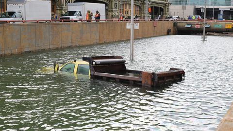 After Hurricane Sandy in New York the Baterry Tunnel was flooded and half of the city lost power. (Photo: Timothy Krause/Flickr CC 2.0)