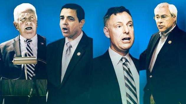 Rep. Jim Costa (D-CA); Rep. Henry Cuellar (D-TX); Rep. Scott Peters (D-CA); Rep. John Barrow (D-GA) (Photos: Zuma)