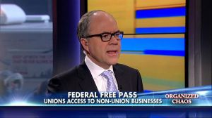 Fox News legal analyst Peter Johnson Jr. on a report in The Daily Caller which alleged that the federal government is applying pressure on businesses to unionize.