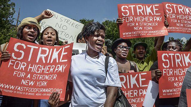 Fast Food Strike in NYC, July 2013. (Photo: Annette Bernhardt/Flickr CC 2.0)