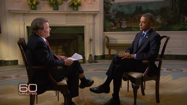 President Obama in 60 Minutes (Photo:Screenshot from 60 Minutes)