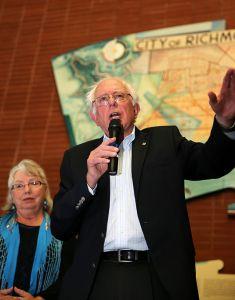 Sen. Bernie Sanders speaking Richmond, California.