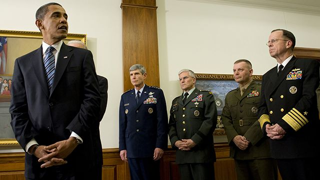 President Obama pictured during his first visit to the Pentagon since becoming President January 28, 2009. (Photo: DoD/Mass Communication Specialist 1st Class Chad J. McNeeley/flickr CC 2.0))