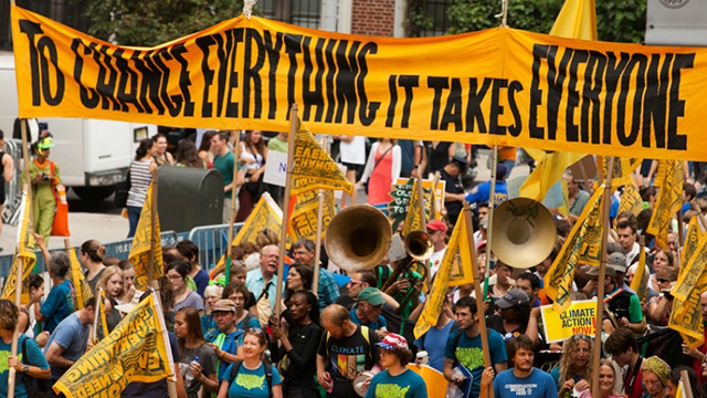 People's Climate March, September 2014 in NYC. (Photo: South Bend Voice/flickr CC 2.0)