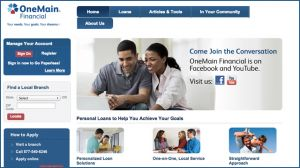 A screenshot from Citigroup's OneMain Financial website.