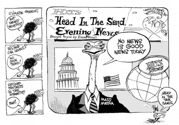 Head in the Tar Sands (Cartoon: Khalil Bendib/OtherWords)