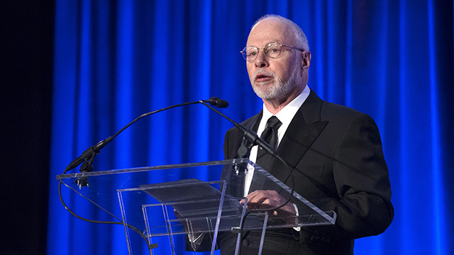 Paul Singer, founder and CEO of hedge fund Elliott Management Corporation, speaks at the Manhattan Institute for Policy Research Alexander Hamilton Award Dinner, Monday, May 12, 2014, in New York. (Photo by John Minchillo/AP)