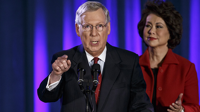 Sen. Mitch McConnell will become Senate Majority Leader assuming he's not deposed by someone more extreme, like Texas Sen. Ted Cruz. (Photo by J. Scott Applewhite/AP)