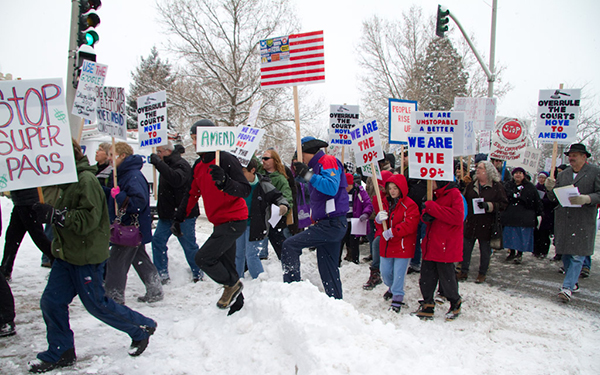 A rally to amend the constitution held in Spokane, WA. (Public Citizen)