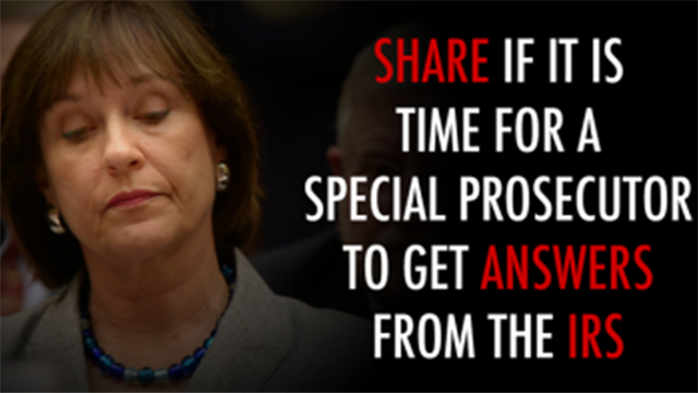 Image from a Facebook campaign by American Commitment that criticized former IRS official Lois Lerner. Facebook