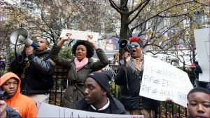 Protesters at a New York City demonstration in support of the people of Ferguson, Missouri, November 28, 2014. (Image: Flickr/ The All-Nite Images)