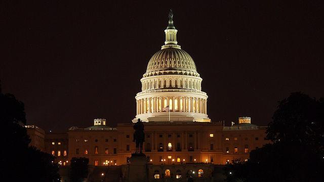 Capitol Hill by night, August 11, 2012. (Image: Flickr/ Paul Arps)