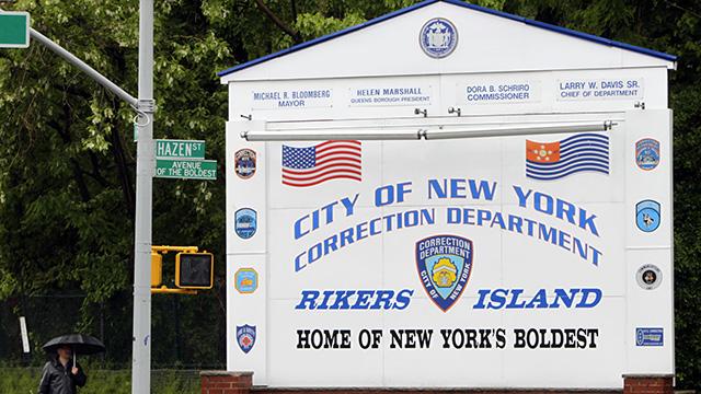 Entrance to Rikers Island, New York. (AP Photo/Seth Wenig)