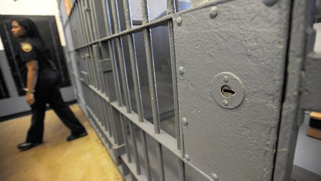 Inside of the Baltimore City Detention Center in Baltimore.  (AP Photo/Steve Ruark)