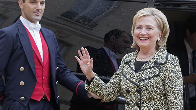 Hilary Clinton in France in  July, 8, 2014. (AP Photo/Michel Euler)