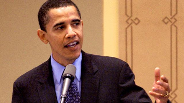 President Barack Obama in 2003.