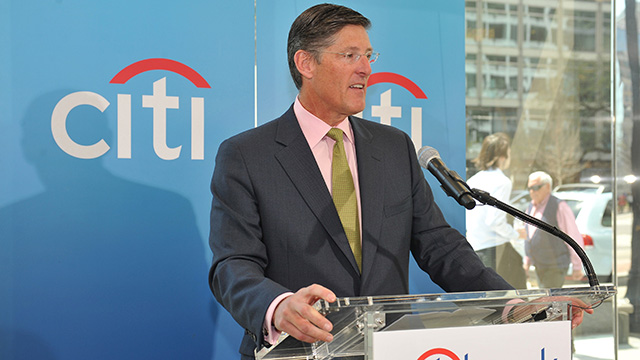Michael Corbat, CEO, Citigroup Inc. at Citibank Branch Ribbon Cutting on Wednesday, April 10, 2013 in Washington, DC.  (Larry French/AP Images for Citi)