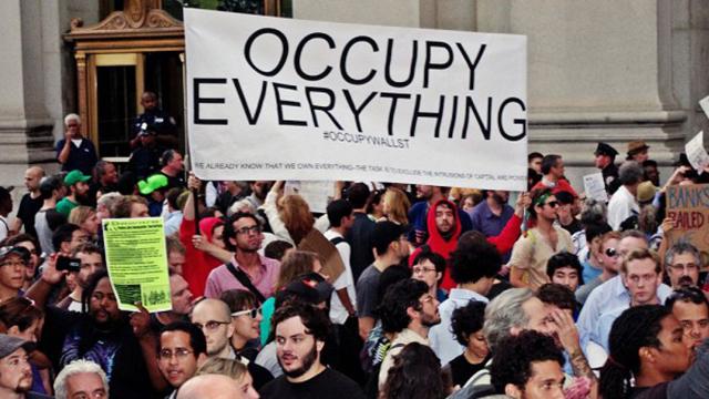 Occupy Wall Street on September 30, 2011. (Wikimedia Commons/David Shankbone)