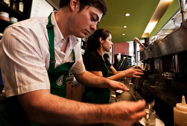 Baristas at Starbucks