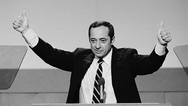 New York Gov. Mario Cuomo in July 17, 1984, at the Democratic National Convention in San Francisco. (AP Photo)