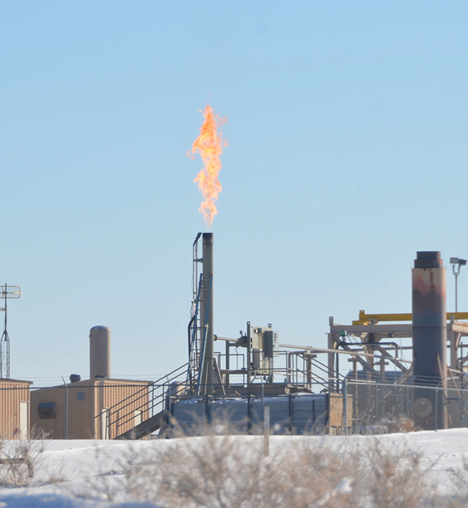 The ozone levels in the Uintah Valley have been found to be as high as in Los Angeles, thanks to oil and gas operations. (Photo: Scott Sandberg/NOAA)