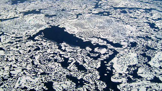 Methane leaking through the cracks in the Arctic. (Photo: NASA's Earth Observatory/Eric Kort/flickr CC 2.0)